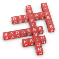 Depression, sadness and pain related crossword
