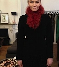 A very wearable black coat...and the cupcakes