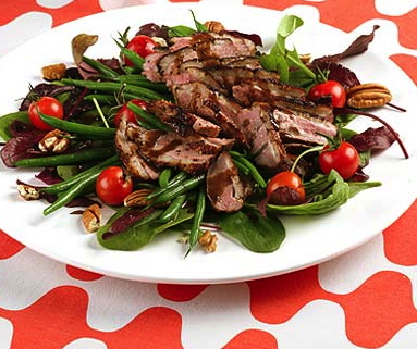 Duck Breast with Green Bean & Walnut Salad
