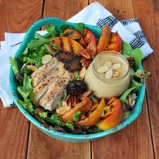 Chicken salad with Pecan, Almond & Peach vinaigrette