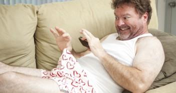 man sexting