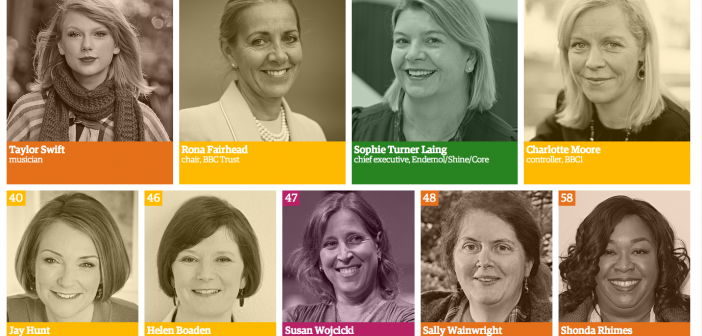 Who are the top females in UK media?