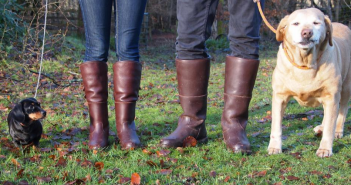 Handcrafted leather country boots