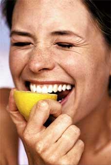 Half a lemon a day helps you...