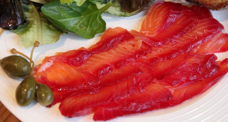 Beetroot & Orange Cured Salmon