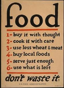 Vintage tips to make food go further