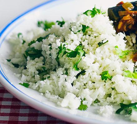 Faux carbs: Cauliflower rice