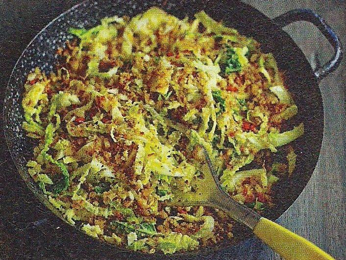 Fantastic Savoy Cabbage Recipe With Anchovies Garlic Breadcrumbs