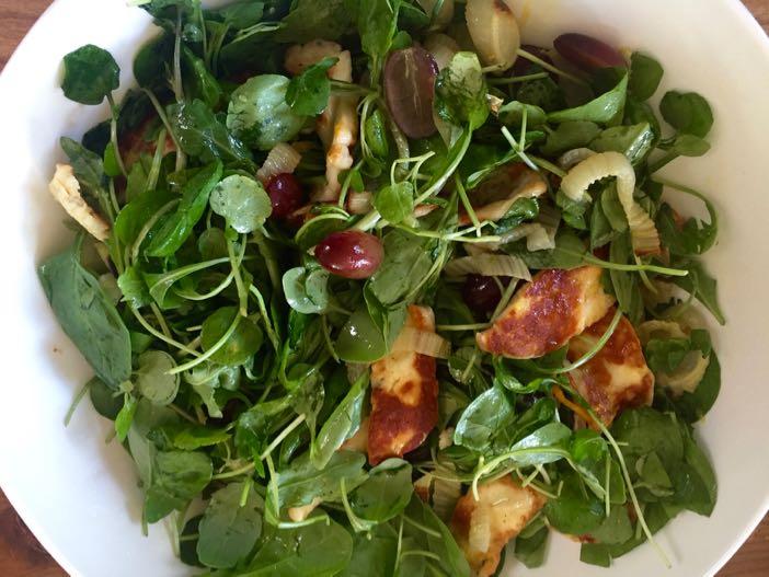 Halloumi and Fennel salad