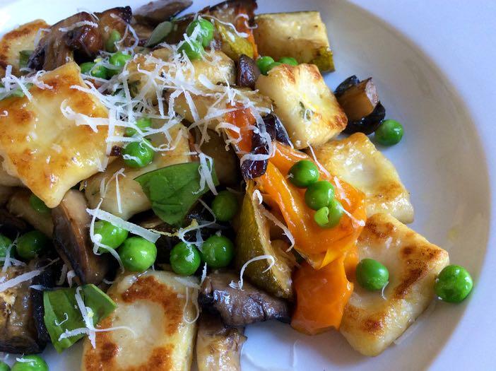 Gnocchi with Mediterranean Roasted Vegetables & Mushrooms