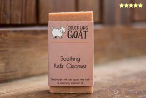 """""""a bar of Chuckling Goat Kefir cleanser"""