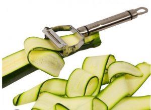 The Spiralizer slicing a cucumber
