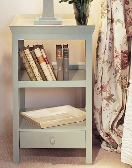 Bedside table in grey from OKA - top bedroom products