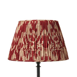 Red and cream pleated lampshade, top bedroom products