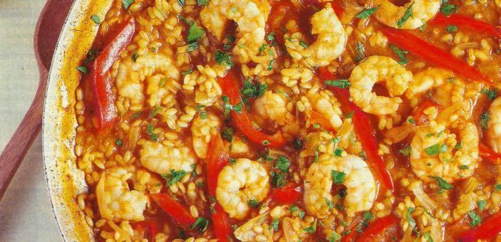 Prawn & Red Pepper Paella