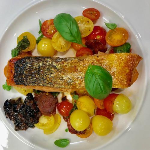 Colourful Chorizo Salmon