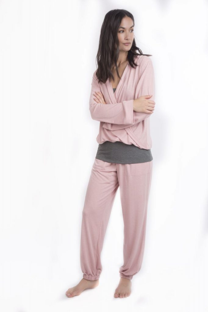 Strappy top £49 Rose Harem Pants £89 Rose Ballet top £89 - Nightwear and leisurewear that keeps you cool night and day - Cucumber Clothing