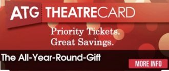 Birthday Experience / ATG theatre gift voucher / Annabel and Grace