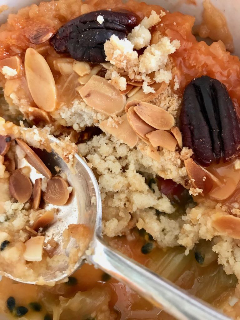 Rhubarb and passionfruit crumble / What's Cooking / Grace at CountryWives