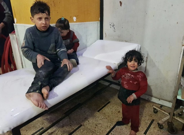 Syrian children in Douma / Poppy Patmore at The CountryWives