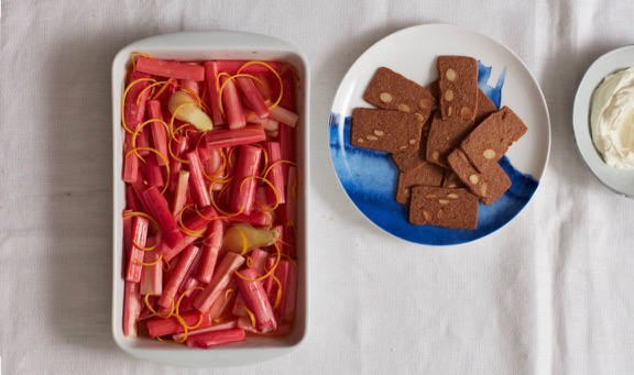 Baked Rhubarb and Ginger pudding / What's Cooking / Puds & treats with rhubarb / The CountryWives