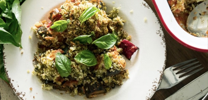 Ratatouille with goat's cheese & herby crumble / What's Cooking / CountryWives