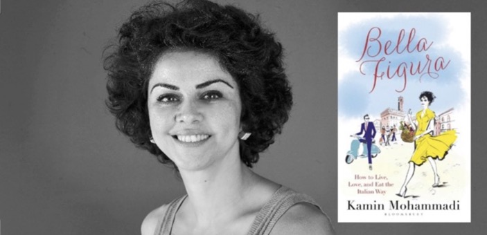 Kamin Mohammadi headshot & cover of her book Bella Figura / Book review / The CountryWives