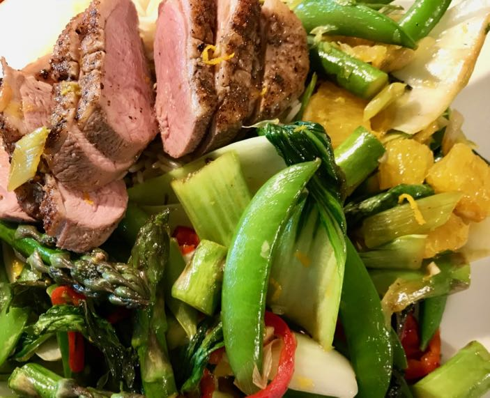 Ingredients / Five spice duck breast with orange, mint and sugar snaps / What's Cooking / Grace at CountryWives online magazine for older women