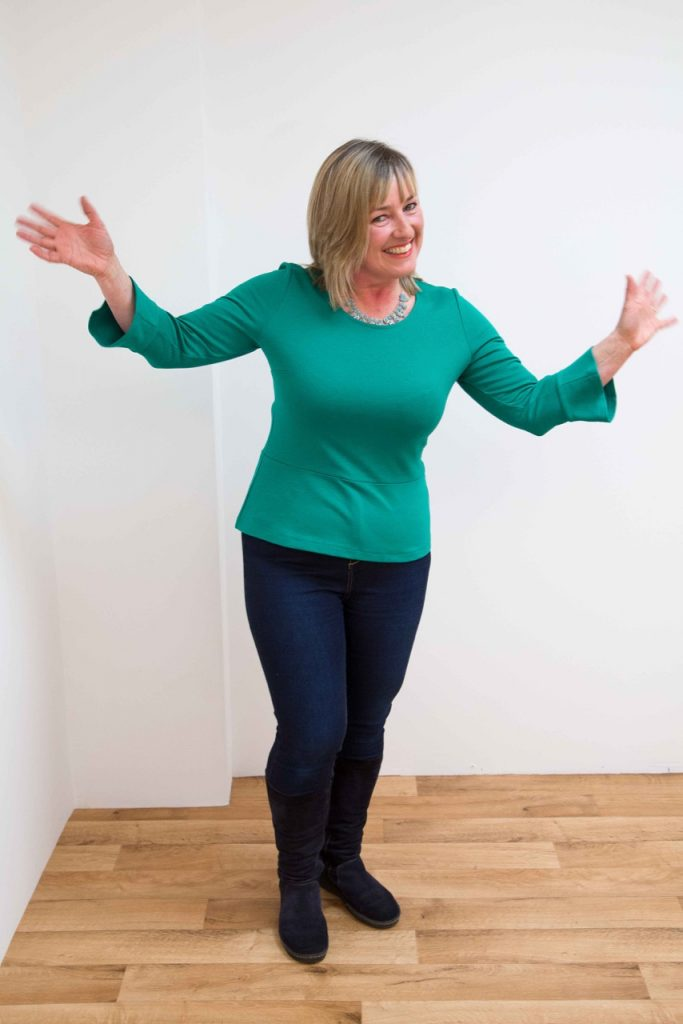 Teresa wearing a Kettlewell Colours Teal Peplum Top / How to dress an hourglass shaped body / Kettlewell Colours / Fashion / The CountryWives