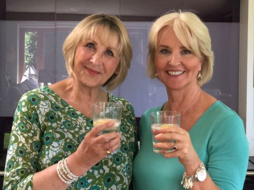 Grace and Annabel have a Gin and Tonic