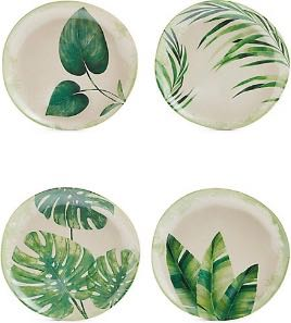 Melamine picnic plates leaf design / Outdoor table and chairs /Alfresco with attitude - stylish outdoor furniture / M&S / CountryWives online magazine