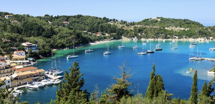 Aerial picture of Loggos Harbour, Paxos / Don't Miss This / Travel / The CountryWives