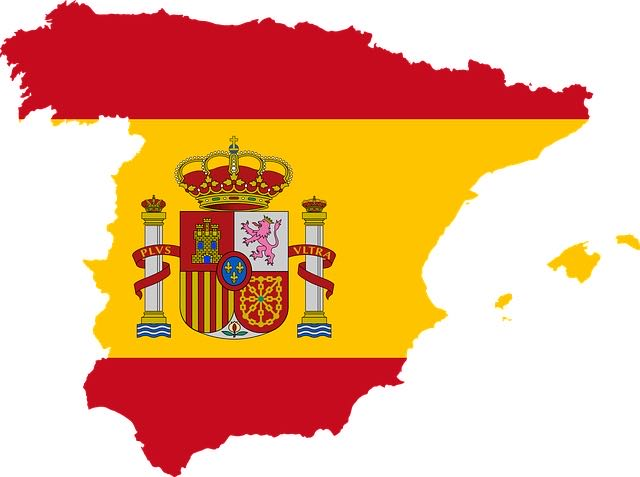 Spanish map flag / BackPacking Granny does Spain / Blog at CountryWives online magazine for older women