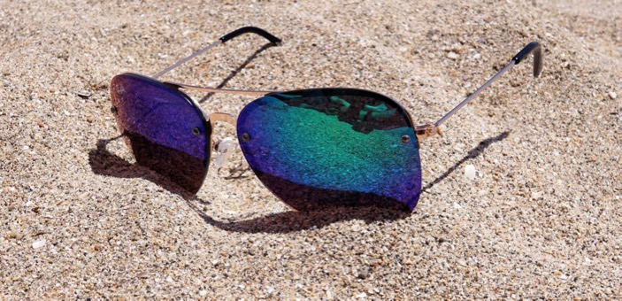 A pair of sunglasses resting in the sand / How long does it take to be beach body ready / blog / wellbeing / The CountryWives