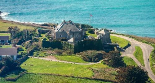 Ariel view of Star Castle Hotel Isles of Scilly