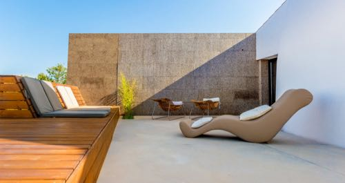 holiday in sunny portugal sun loungers at companhia das culturas algarve