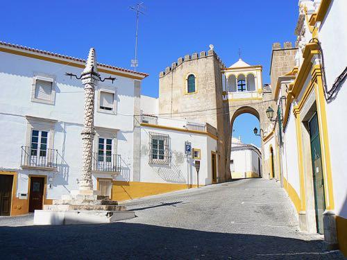 sunny holidays in Portugal Alentejo street view