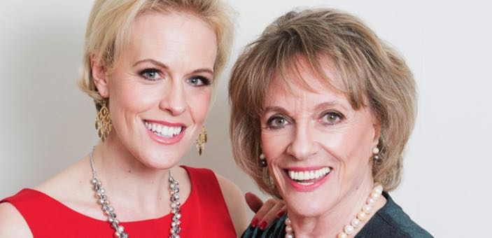 Headshot of Rebecca Wilcox and Esther Rantzen