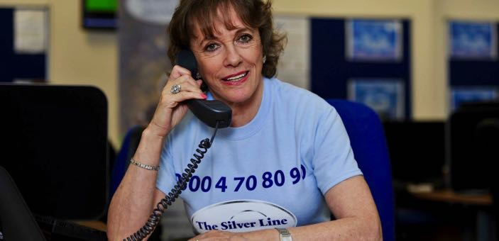 Esther Rantzen on a Silver Line phone call