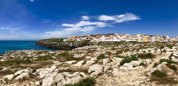 sunny holidays in portugal Peniche view
