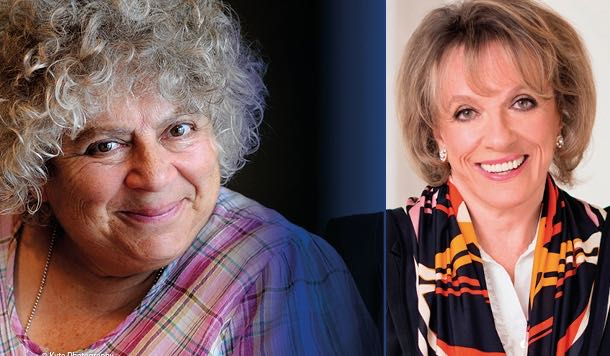 headshots of Miriam Margoyles and Esther Rantzen