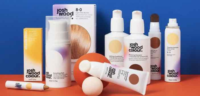 Display of the Josh Wood colour system products