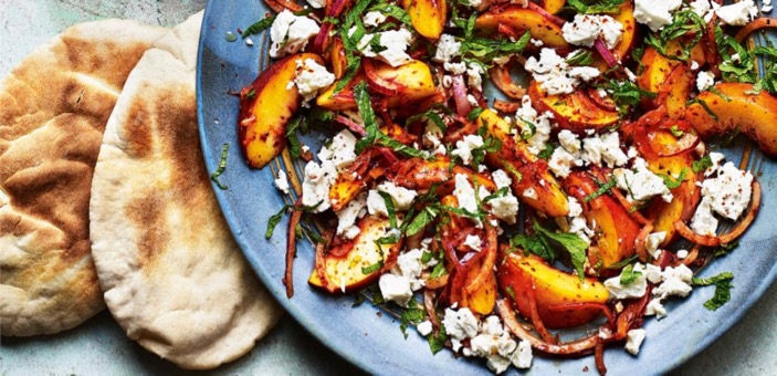 Peach, Feta and Mint with Pul Biber Summer Salad / Sabrina Ghayour