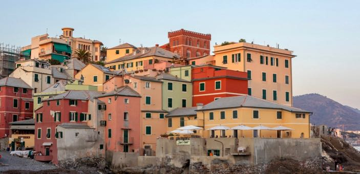 Colourful buildings of Genoa