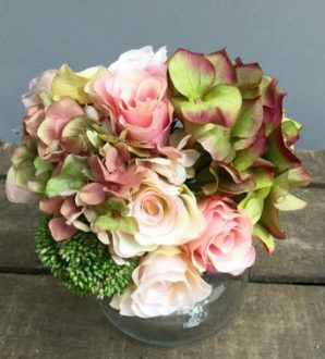 Rose/Hydrangea Sedum Bunch faux flowers - 5 Desirable Items For Your House And Garden