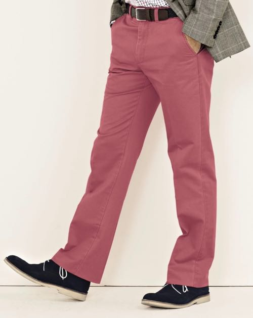 People Watching / dusty pink chinos