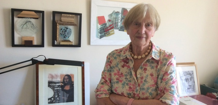 Gordana Naslas with some of her artwork