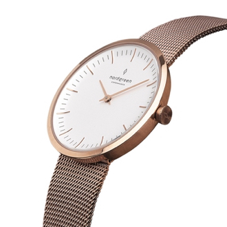 Nordgreen Watches Infinity Rose Gold Mesh