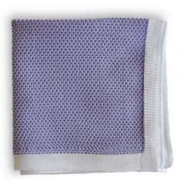 Lavender knitted pocket square Frederick Thomas London - handmade accessories for men