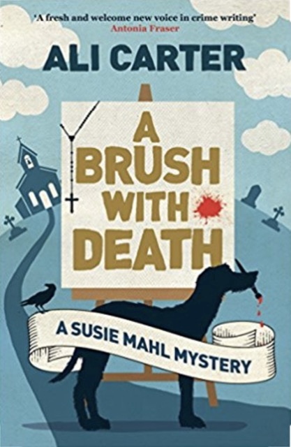 A Brush with death - book cover - crime thriller from debut novelist